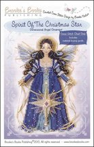 Spirit of Christmas Star Angel Ornament Chart only cross stitch Brooke's... - $9.00