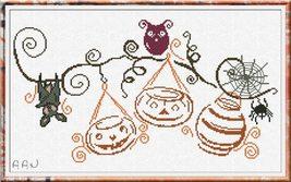 Halloween Party cross stitch chart Alessandra Adelaide Needlework - $16.20