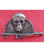 Israel army IDF Special operations SNIPER skull pin with bullet hole - $10.50