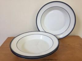 Set 3 Vintage MCM Dansk Concerto Allegro Blue White Porcelain Soup Salad Bowls - $1,000.00