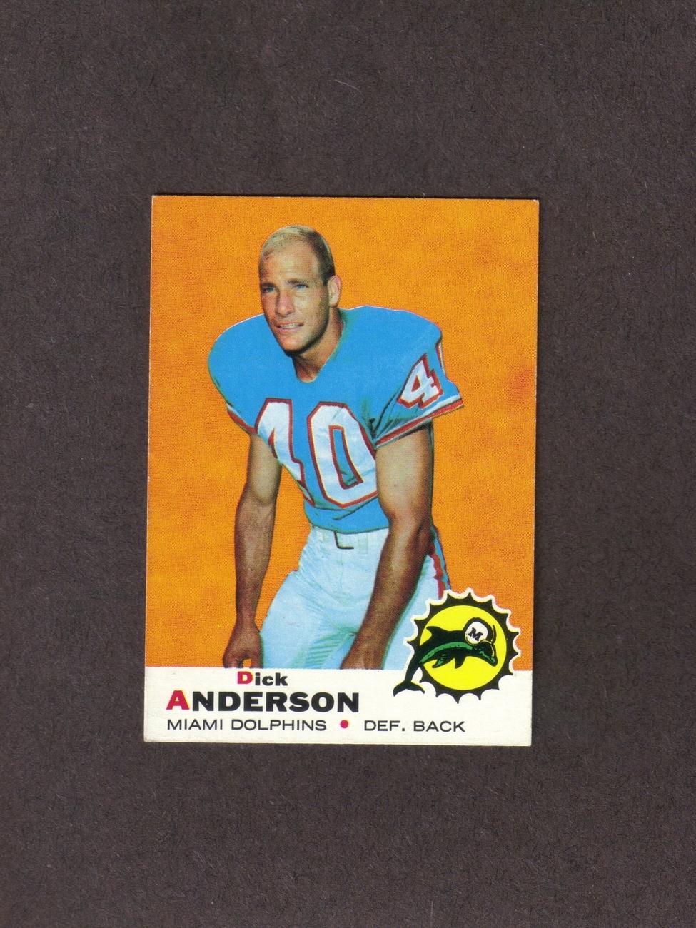 1969 Topps # 59 Dick Anderson RC Miami Dolphins Bonanza