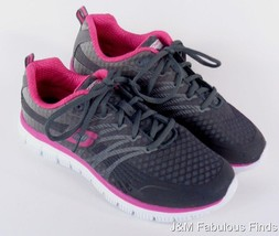 Skechers Womens Lite Weight Memory Foam Mesh Sneakers Size 8 Gray Pink - $73.98 CAD