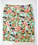 Lane Bryant Classic Straight Fit Pencil Skirt Knee Length Floral Size 16 - $29.67
