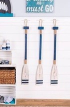 Blue And White Wood Oar Paddle Large Wall Decor Nautical Beach Home Decor - $32.06