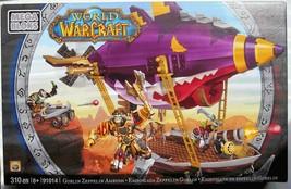 Mega Bloks World of Warcraft GOBLIN ZEPPELIN Set 310 pc #91014 New in Bo... - $21.68