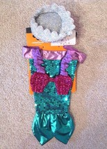 Little Mermaid dog pet sparkle sequin halloween costume size SMALL / MEDIUM - £7.95 GBP