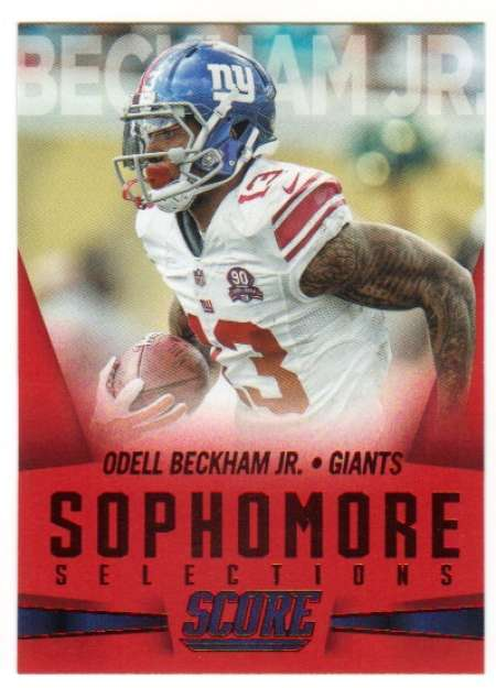 Primary image for 2015 Panini Score Sophomore Selections Red #14 Odell Beckham Jr. NY Giants NM-MT