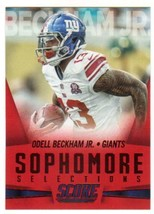 2015 Panini Score Sophomore Selections Red #14 Odell Beckham Jr. NY Giants NM-MT - $4.23