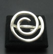 R000920 Stylish STERLING SILVER Ring Solid 925 Spiral - $326,10 MXN