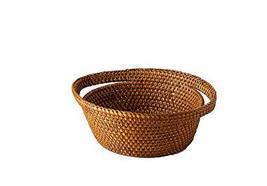 Shinsegae INT Ketak Rattan Handmade Wooden Handle Display Hampers Basket (Small)