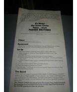 Vintage 1978 Parker Bros. Board Game Instructions - $9.89