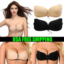 Silicone Push-Up Backless Strapless Self Adhesive Gel Magic Stick Invisible Bra image 1