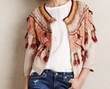 NWT ANTHROPOLOGIE GUAJAVA FRINGED CARDIGAN SWEATER by MOTH M