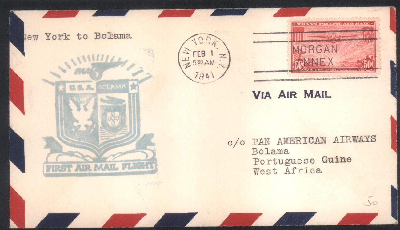 First air mail flight cover