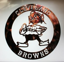 "Cleveland Browns  Metal Wall Art Copper/Bronzed 17 1/4"" Round - $37.61"