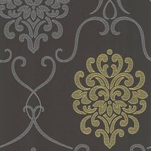 Suzette Grey Modern Damask Wallpaper Decorline DL30440 - $42.99