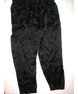 New NWT $195 Medium Designer Josie Natori Silk Pants Black Key Crop Capr... - $126.75