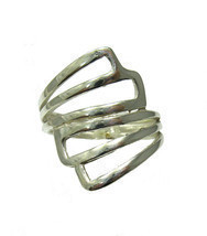 R001341 Stylish STERLING SILVER Ring Solid 925 - $258,99 MXN