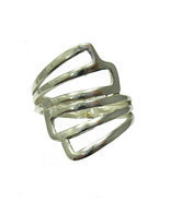 R001341 Stylish STERLING SILVER Ring Solid 925 - $17.98 CAD