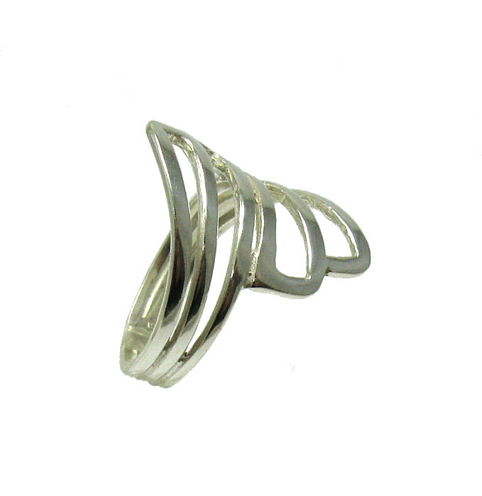 R001341 Stylish STERLING SILVER Ring Solid 925