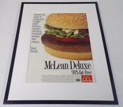 McDonald's 1991 McLean Deluxe Burger 11x14 Framed ORIGINAL Advertisement - $34.64