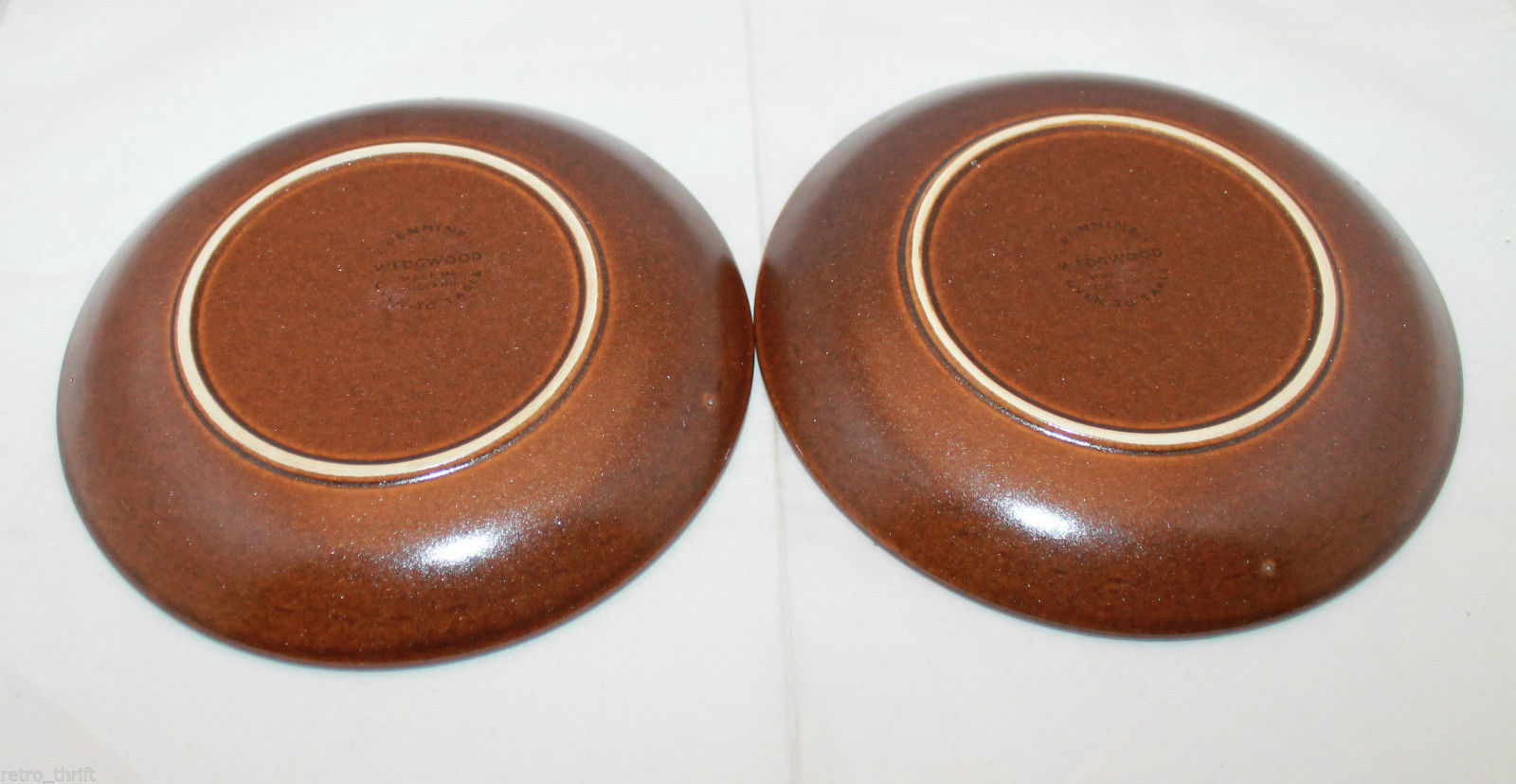 Wedgwood Set of 2  Pennine Brown Bread & Butter Side Plates Dish Made in England image 12