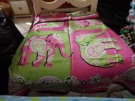Vera Bradley Pink Elephant silk scarf  - $30.00