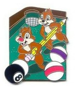 Chip & Dale on Pool Table Authentic Disney Auctions Pin on card - $69.99