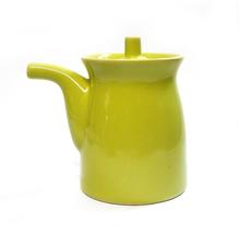 """Porcelain Oil Cruet Green Ceramic by Crate & Barrel 3.75"""" Tall - $5.00"""