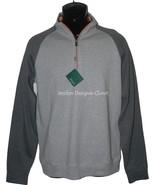 NWT BOBBY JONES Golf  S Pima cotton pullover 1/4 zip gray monogram neck ... - $73.71
