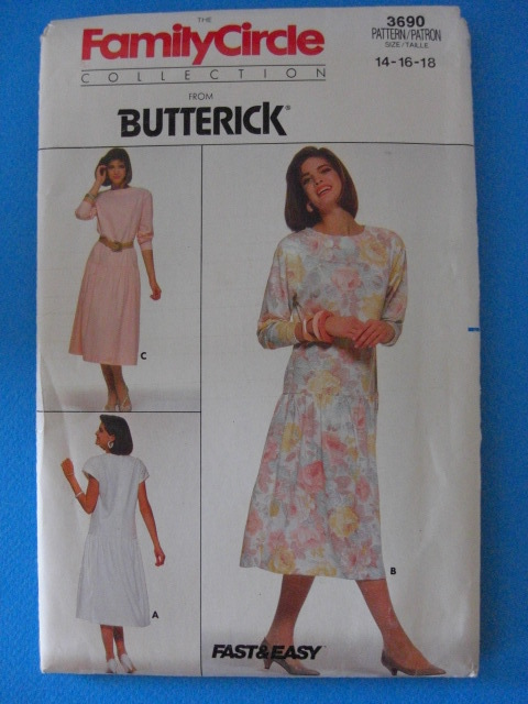 Butterick Fast & Easy #3690 Pattern Sizes 14 16 and 18 Butterick