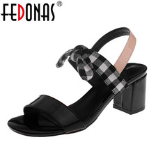 Women New Shoes Summer Classics Fashion Leather Ladies FEDONAS Genuine Elegant wtFP4tq