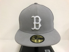 New Era 59Fifty 5950 MLB Basic Boston Red Sox Gray white Basic Fitted Ca... - $27.87