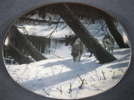 Moonlight Shadows Collector Plate Winter Shadows Persis Clayton Weirs Wo... - $21.95