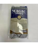 Magic Skirt Tailored Bedskirt, Full Size, Silver (New Open Box) - $29.56