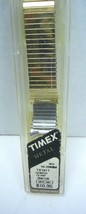 Timex Expansion Watch Band TX191T VINTAGE 16mm-20MM Stainless steel Yell... - $12.19