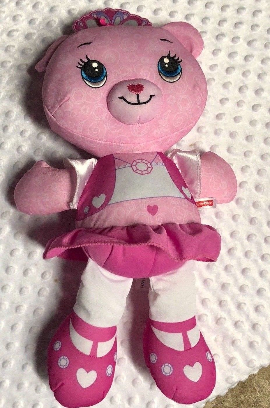 "Fisher Price Plush Pink Doodle Doll Bear 16"" tall"