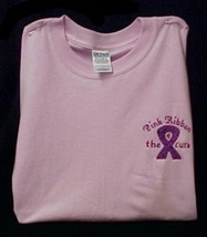 Breast Cancer Awareness T Shirt Pink Purple Ribbon 4 Cure Pink S/S S Unisex New - $23.25