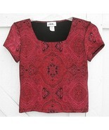 PS JBS Ltd Red Paisley Glitter Top Cocktail Hol... - $11.99