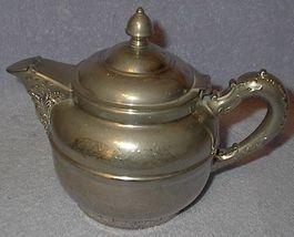 Antique Rochester Nouveau Silver Plate and Pewter Tea Pot - $39.95