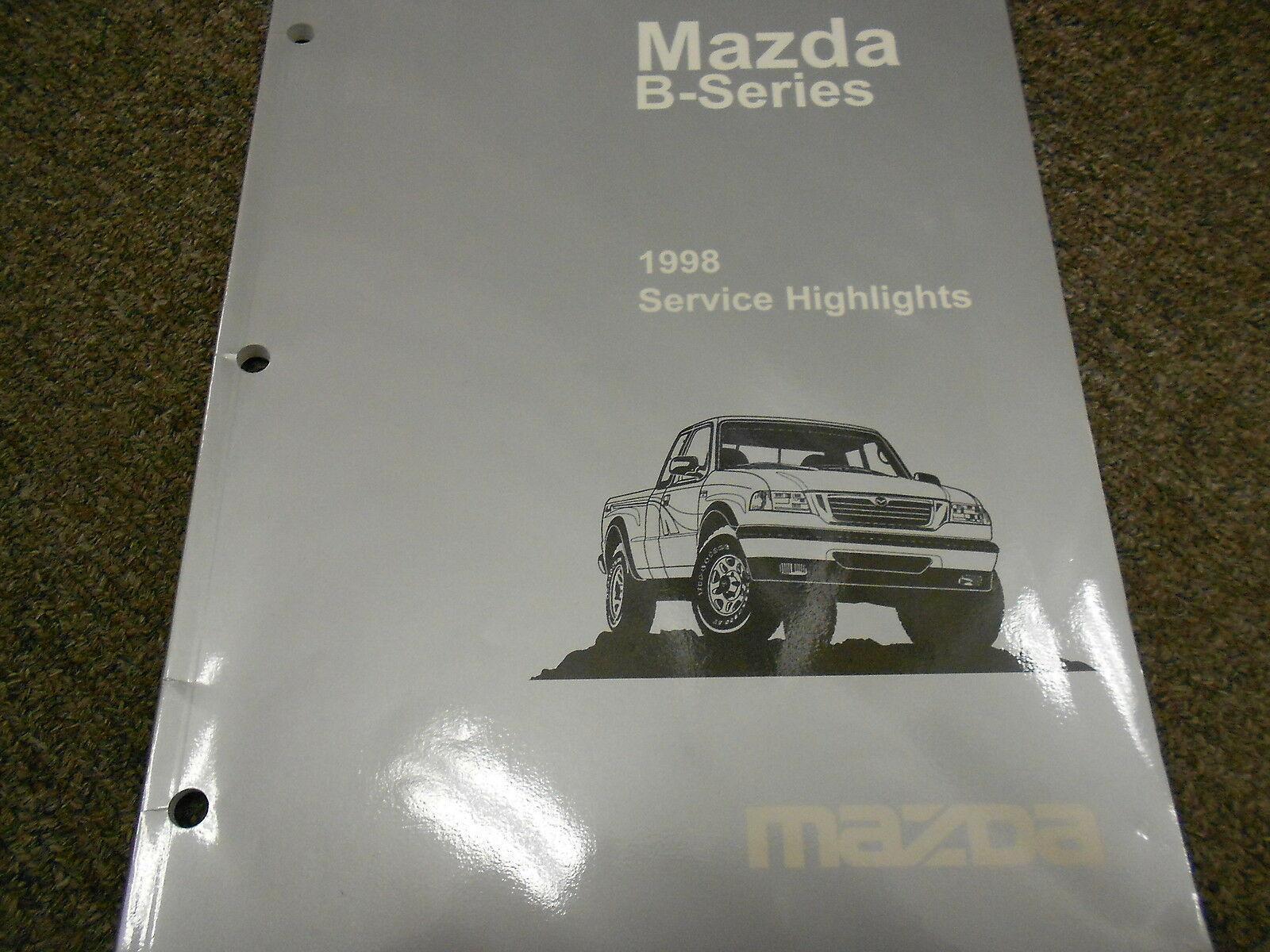 1998 Mazda B-Serie Truck Service Highlights Reparatur Shop Manuell Silber