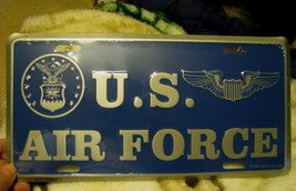 License Plate US AIR FORCE seal and old style w... - $7.90