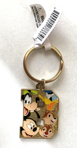 Disney Parks Mickey Mouse Character Initial Letter B Metal Keychain NEW - $19.90