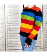 [Jones New York] Vintage Rainbow Striped Sweater - $45.00
