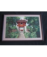 Chinese Su Embroidery Art Garden Framed Ready to Hang - $60.00