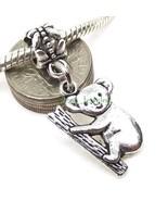 Cute Koala Bear Dangle Charm Large Hole Slider Bead for European Charm B... - $4.50