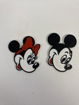 VTG Walt Disney Productions Mickey Minnie Mouse Rubber Refrigerator Magn... - $27.71