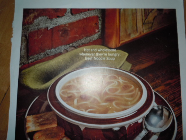 Campbell's Soup Beef Noodle Soup Print Magazine Ad 1967  image 2