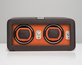 WOLF Windsor 2.5 Double Automatic Watch Winder with Cover Box Case Brown... - $495.00