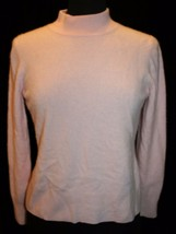 Investments L Light Pink Mockneck Cashmere Sweater Womens - $37.55
